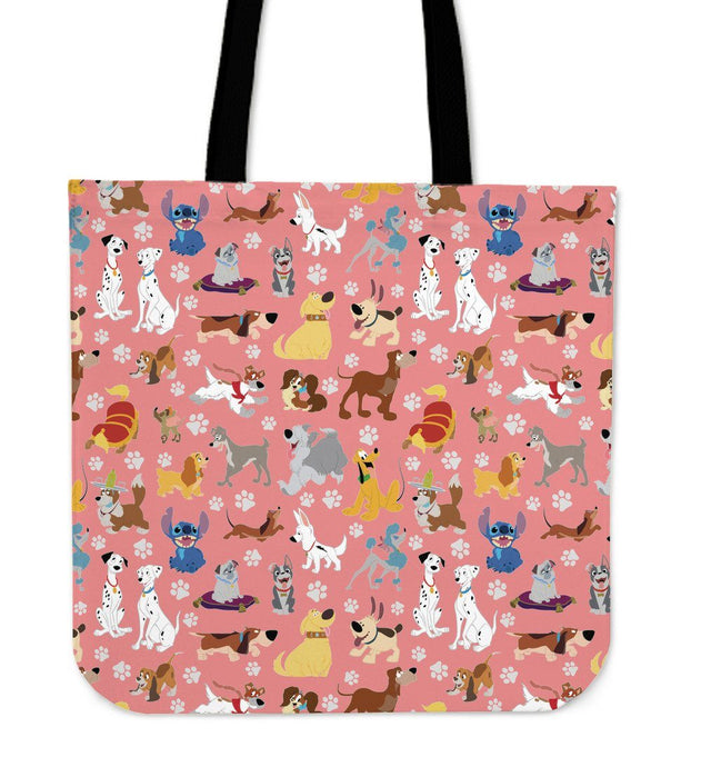 DISNEY DOGS PINK CLOTH BAG