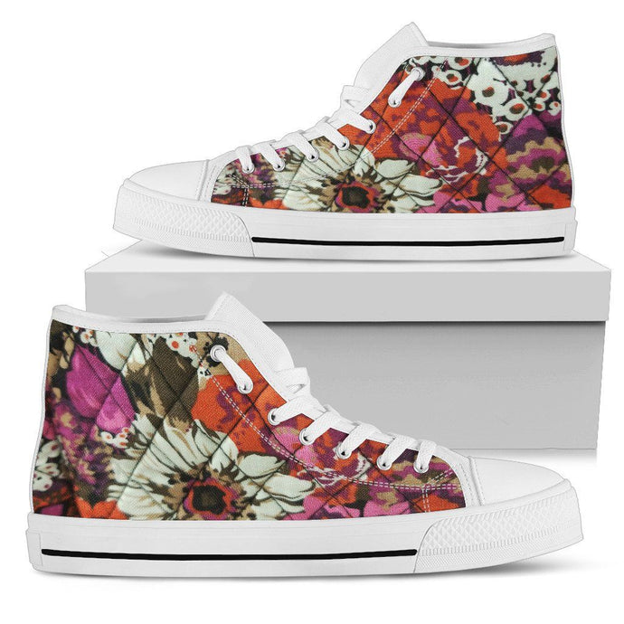 FLOWER BLOOM WOMEN'S HIGHTOPS