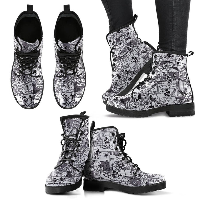 MICKEY COMIC LEATHER BOOTS