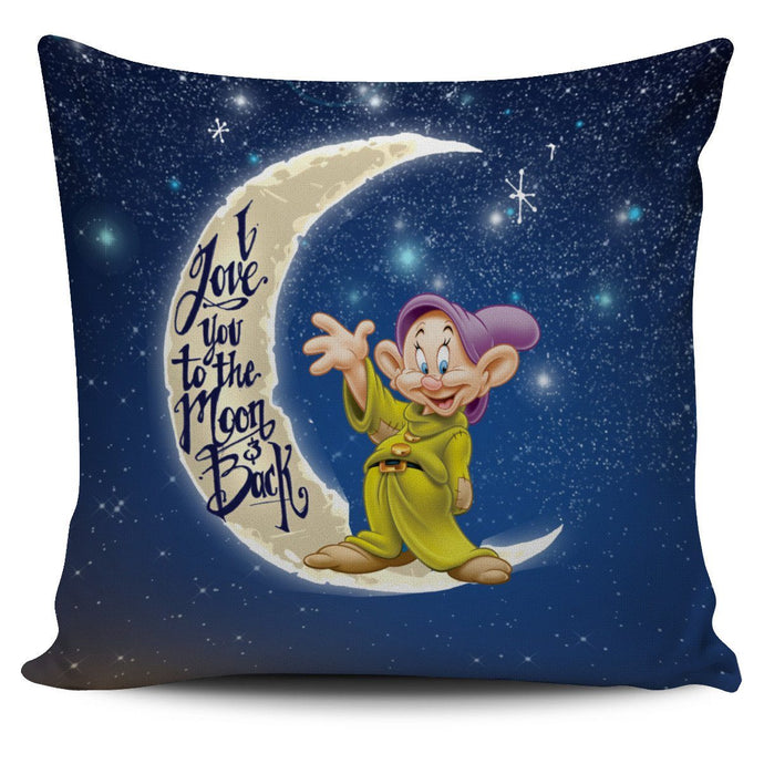 LOVE YOU TO THE MOON DOPEY PILLOW COVER