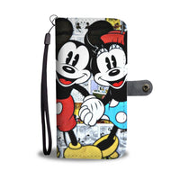 Mickey & Minnie Holding Hands Wallet Phone Case