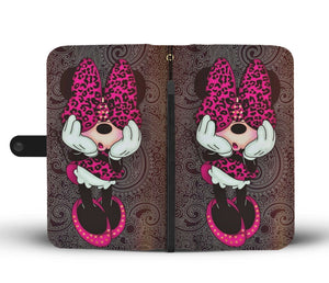 ABSTRACT MINNIE WALLET PHONE CASE