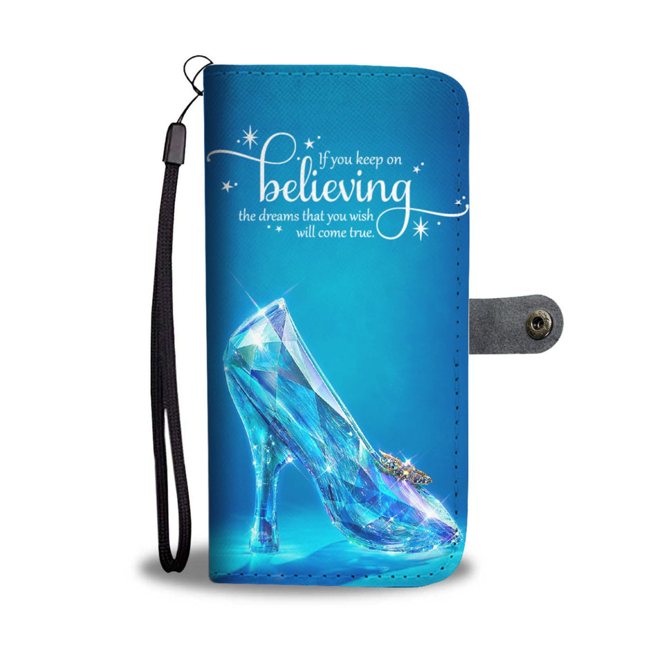 Cinderella Shoes Wallet Phone Case