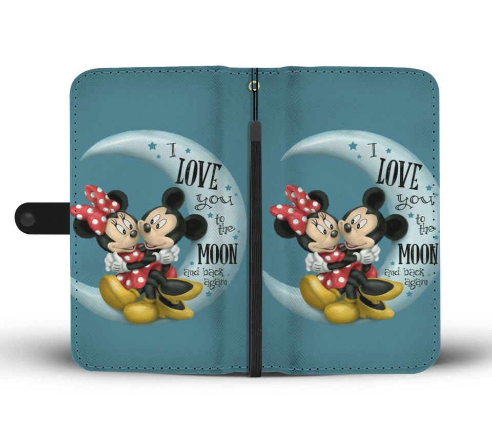 LOVE YOU TO THE MOON WALLET PHONE CASE