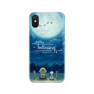KEEP ON BELIEVING SNOOPY PHONE CASE