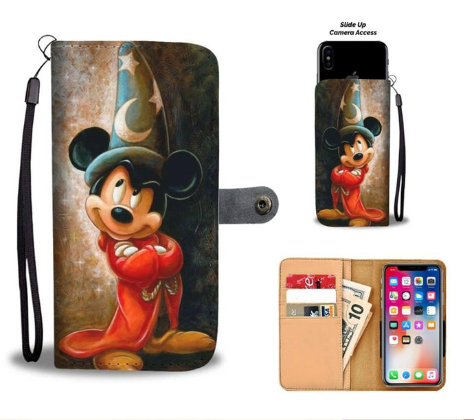 WIZARD MICKEY WALLET PHONE CASE