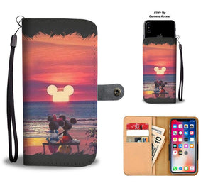 MICKEY SUNSET WALLET PHONE CASE