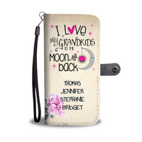 PERSONALIZED LOVE MY GRANDKIDS TO THE MOON WALLET PHONE CASE