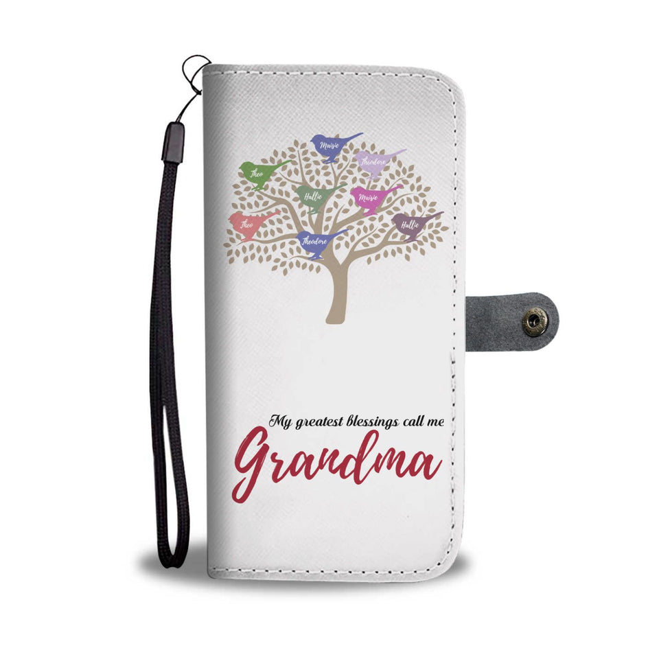 PERSONALIZED GREATEST GRANDMA BLESSINGS WALLET PHONE CASE