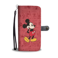 MICKEY NEWSPAPER WALLET PHONE CASE