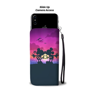 MICKEY SUNSET KISS WALLET PHONE CASE