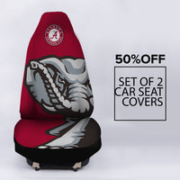 ALABAMA CRIMSON TIDE CAR SEAT COVER (SET OF 2)