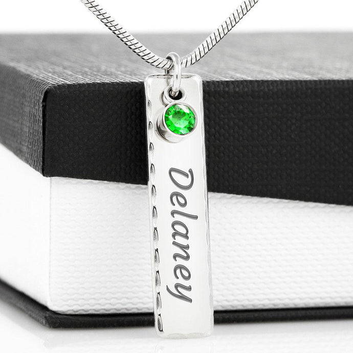PERSONALIZED GRANDMA'S NAME BIRTHSTONE NECKLACE