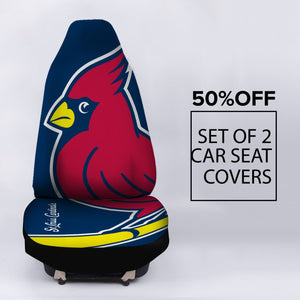 ST LOUIS CARDINALS BLUE CAR SEAT COVER (SET OF 2)