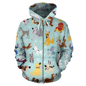 DISNEY DOGS ZIP UP HOODIE