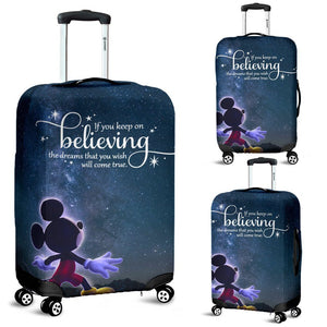 KEEP ON BELIEVING LUGGAGE COVER