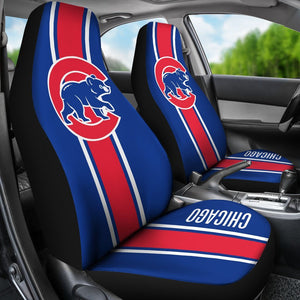 CHICAGO CUBS CAR SEAT COVER (SET OF 2)