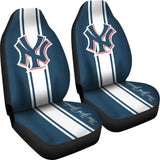 NEW YORK YANKEES STRIPED CAR SEAT COVER (SET OF 2)