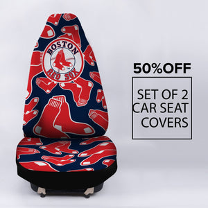 BOSTON RED SOX LOGO CAR SEAT COVER (SET OF 2)
