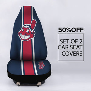 INDIANS CAR SEAT COVER (SET OF 2)