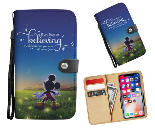 Keep On Believing Wallet Phone Case