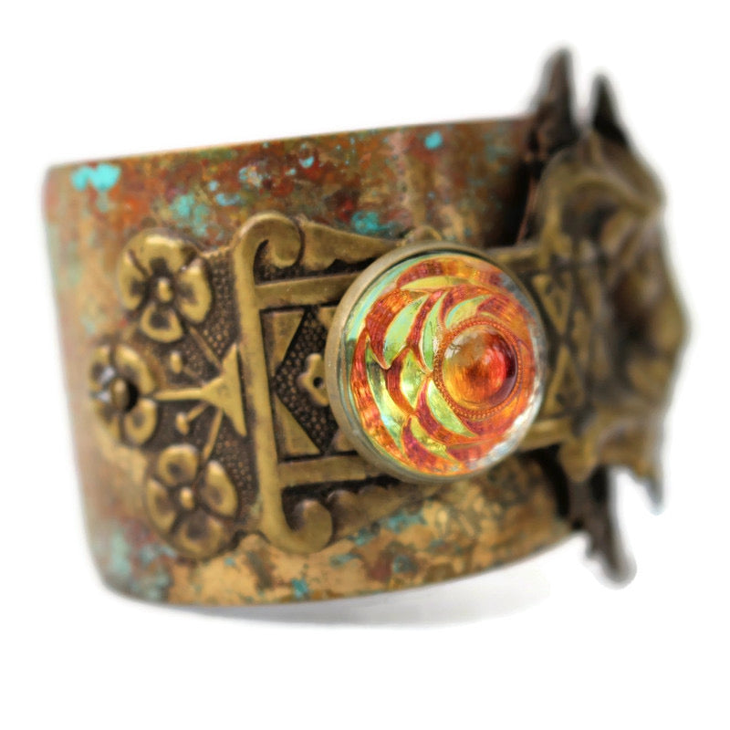 Golden Green Man Cuff