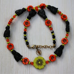 Cats and Flowers and Cats and Flowers Necklace