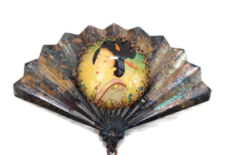 Lotus Blossom Assemblage Pin