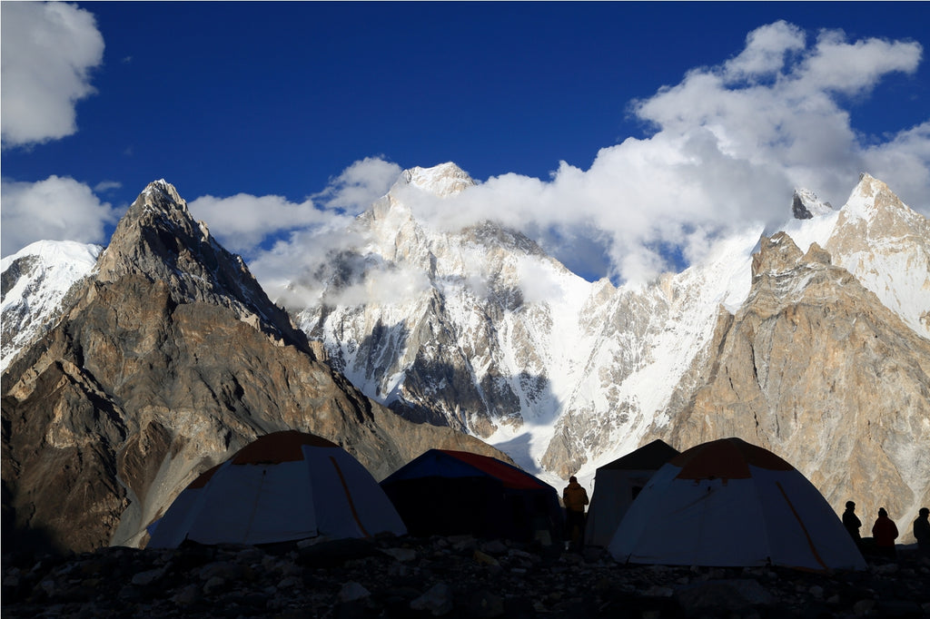 Gasherbrum IV Looms Over Camp