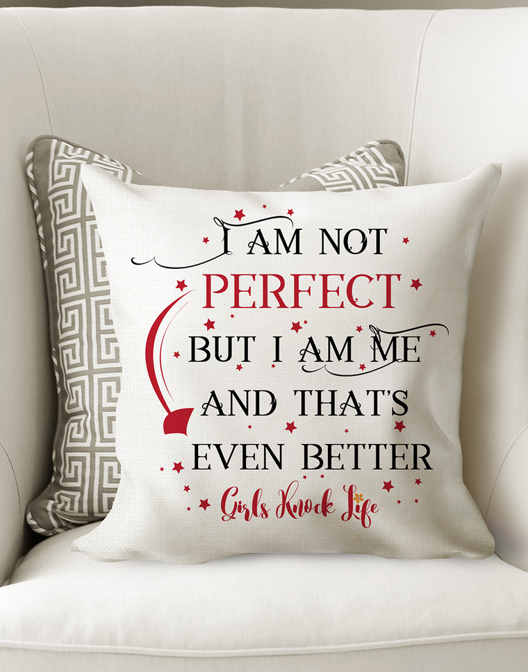 I am Not Perfect Cushion