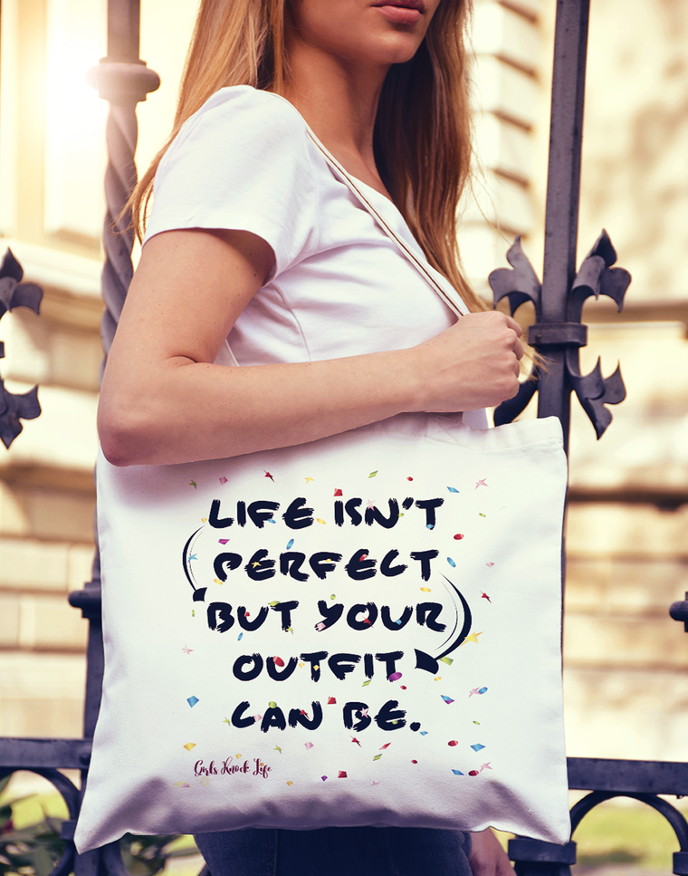 Life isn't Perfect Tote bag