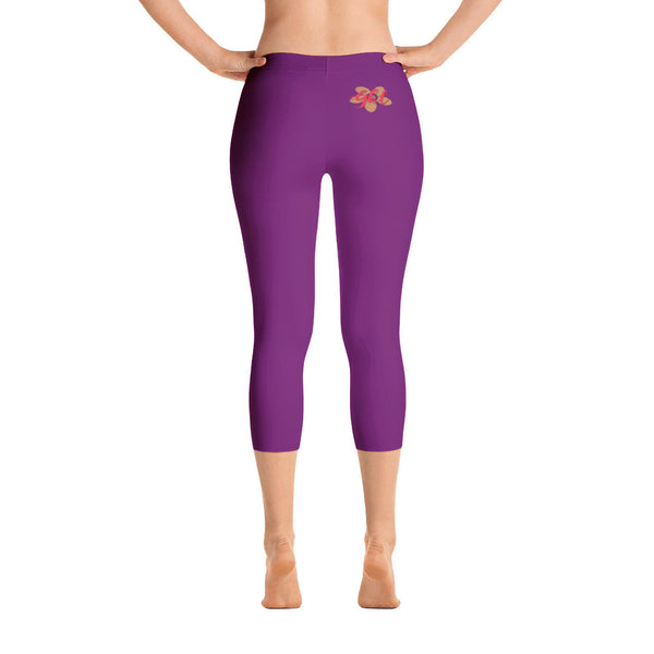 Dark Purple Capri Leggings