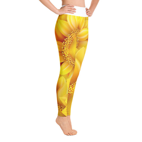 Sunflower Yoga Leggings