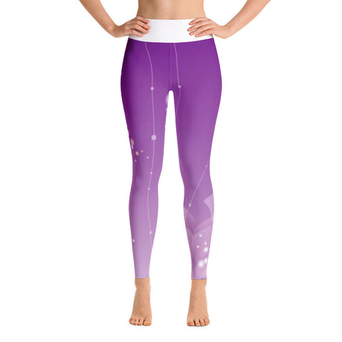 Purple Butterfly Yoga Leggings
