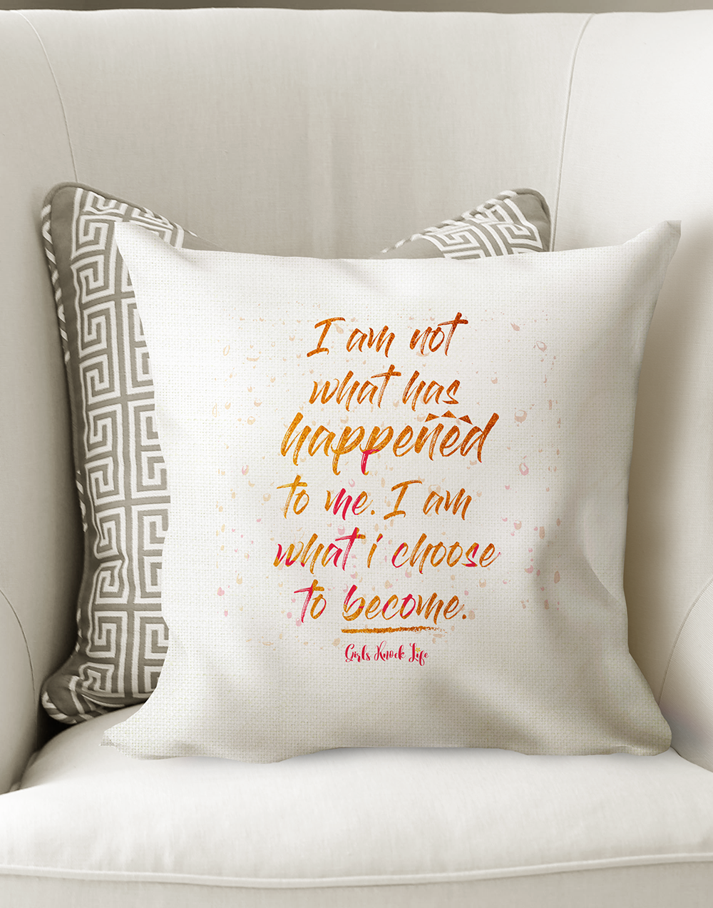 I am Not What Happened Cushion