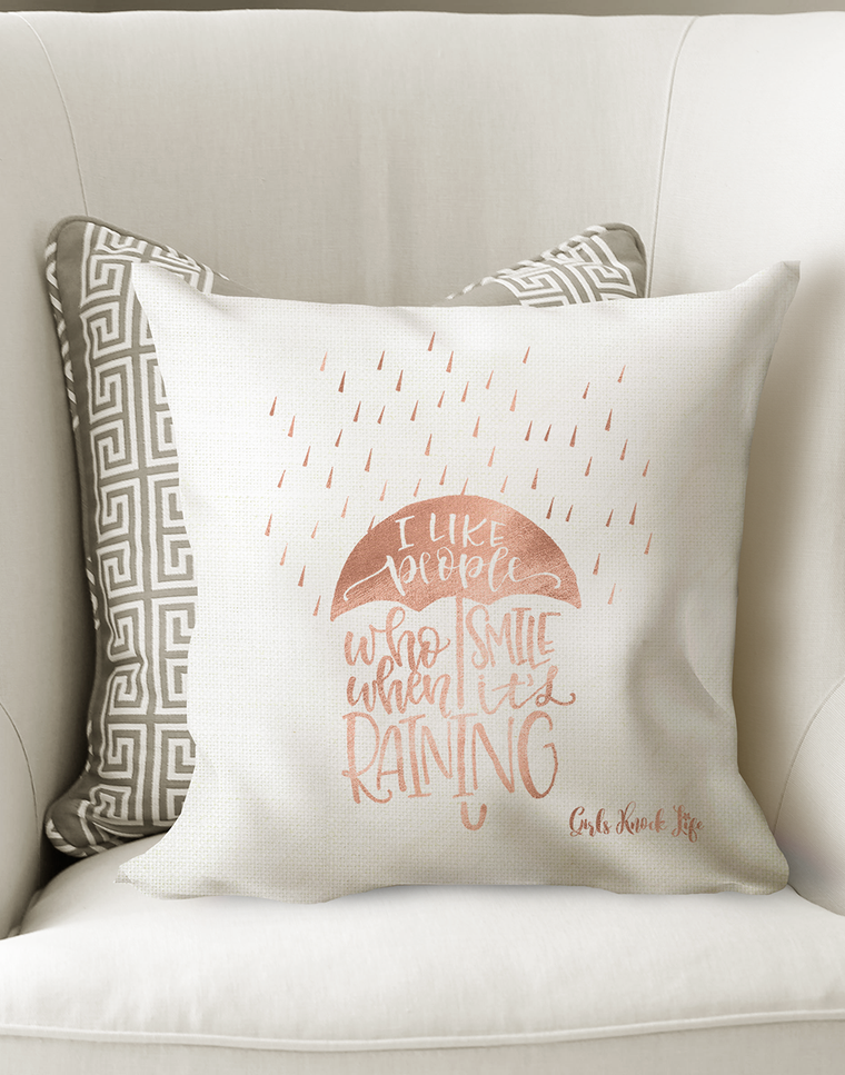 Smile When Raining Cushion
