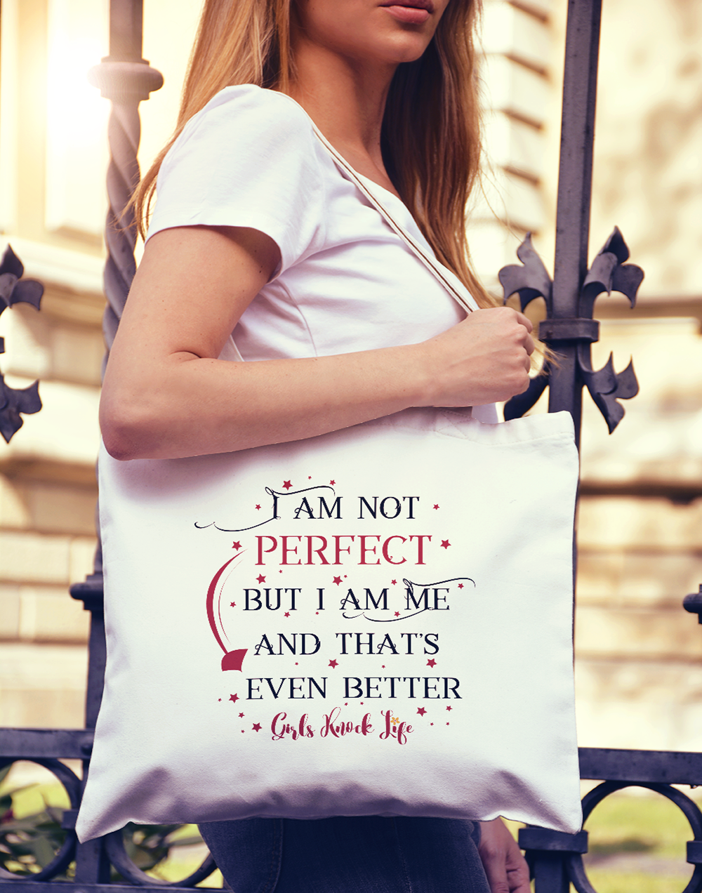 I am Not Perfect Tote bag