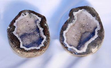geode-Las Choyas-druzy crystal center - cut and edges polished