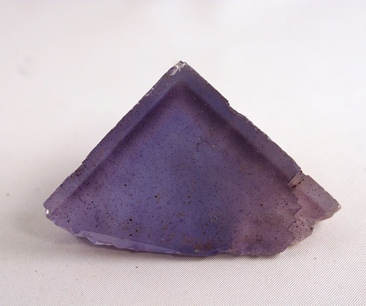 Front of fluorite cube showing zoning