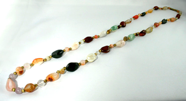 40008 mixed stone Boho necklace