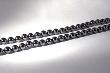 40019 - Hematite bead infinity necklace - closeup