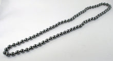 40019 - Hematite bead infinity necklace - full length