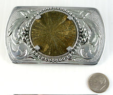 Belt Buckle -Western design with Pyrite Sun Cab