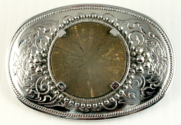 40518-Belt buckle with Pyrite sun cab