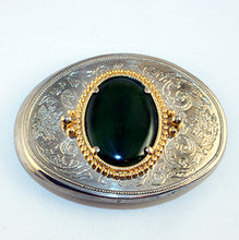 40526 Belt Buckle with Jade cab