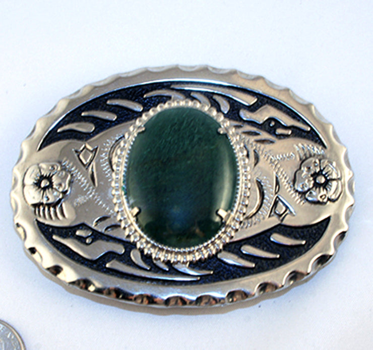 40527_belt buckle with moss agate cab
