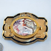 Belt Buckle  with  Crazy Lace Cab