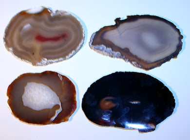 Set of 4 agate slabs -