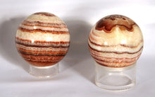 Sphere - banded agate - showing variations in banding