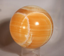Sphere-Orange Calcite_large-showing white veining